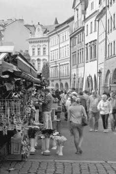 At the marketplace Black White Photos, Black And White, Free Black, Public, Street View, Building, Travel, Viajes, Black N White
