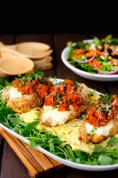 Quinoa Crusted Chicken Parmesan