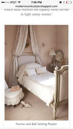 21 new Ideas shabby chic bedroom girls dream rooms french country French Country Bedrooms, French Country Living Room, French Country Decorating, Bedroom Country, Kate Forman, Baños Shabby Chic, Farrow And Ball Paint, Farrow Ball, Modern Country Style