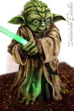 Yoda Cake for Star Wars : The Force Awakens by Vicki's Incredible Edibles