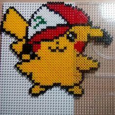 Pikachu hama beads by Victoria
