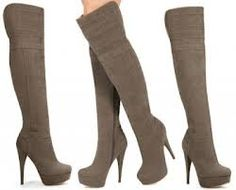 Brown Suede Knee Boots with High Heels Pretty Shoes, Cute Shoes, Me Too Shoes, Heeled Boots, Bootie Boots, Women's Boots, Botas Sexy, Shoe Gallery, Long Boots