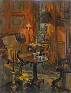 Susan Ryder RP NEAC (b.1944) — Yellow Roses, Yellow Room (620x804)