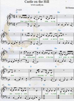 Ed Sheeran — Castle on the Hill Download PDF Piano Sheet Music Free