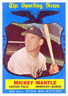 1959 Topps #564 - Mickey Mantle AS