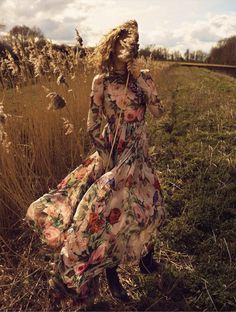 Sophia Ahrens wears Dolce & Gabbana floral print maxi dress