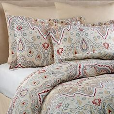 Sorento Reversible Comforter Set in Red/Beige - BedBathandBeyond.com