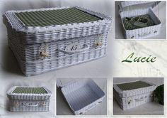 Pletení z papíru - kufřík