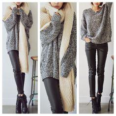 Oversized Knit Sweaters Tumblr Grey Sweater Oversized Knit