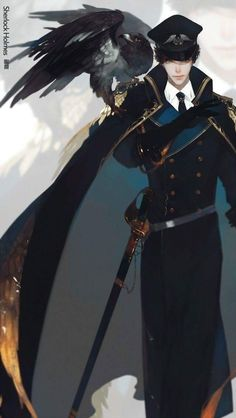 anime male military characters