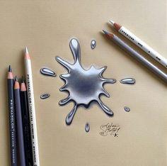 Realistic 3d Art Drops By Ms91art Http Webneel Com 3d Drawings Pencil Art Design Inspiration Http Webneel Prismacolor Art 3d Pencil Drawings 3d Drawings