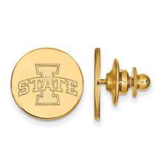 Sterling Silver w/GP LogoArt Iowa State University Lapel Pin