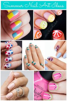 manicure -                                                      For a summery manicure, try mini watermelons, patriotic stars, or blush dots!
