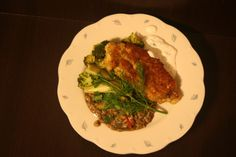 Skillet Fried Chicken with Roasted Fennel and Broccoli over a bed of Dirty Quinoa