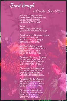 poezii romanesti, poezii de suflet, poezii pentru sora, poezii de Valentina Sarbu-Pelivan
