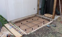 How to calculate concrete needed to pour a slab moms summer i am wanting to build a lean to right outside of my shop to store my dust collector in so the first thing i wanted to do was pour a small concrete slab solutioingenieria Image collections