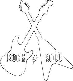 Cute+As+a+Fox:+Rock+&+Roll+Shirt+w/+Template