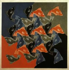 M.C. Escher - Fish 1942. WikiPaintings.org
