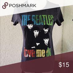 The Beatles T-Shirt Medium Navy background. Size medium Love Me Do tee. No trades. Tops Tees - Short Sleeve