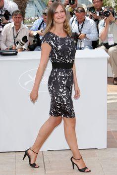 2008 - Alexandra Maria Lara Alexandra Maria Lara, Red Carpet Party, Short Sleeve Dresses, Dresses With Sleeves, Cannes Film Festival, Fashion, Boyfriends, Deutsch, Moda