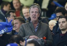 Jeremy Clarkson watches from the stands as Chelsea plays Paris St match at Stamford Bridge, London, March 11, 2015. Reuters / Stefan Wermuth Livepic