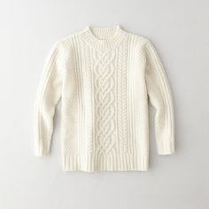Steven Alan | Mock Neck Cable Sweater