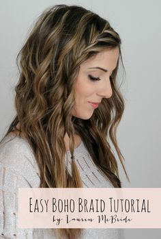 Easy Boho Braid Tutorial. An easy bohemian hair style for those days you just have no time!