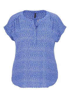 the short sleeve plus size blouse in chevron print