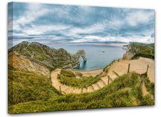 Trendykunst presenteert dit prachtige schilderij van een paradijselijk landschap.  Een canvas schilderij met een print.