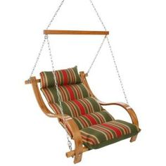 Single Cushion Patio Swing with Oak Arms Trellis Garden, SGNA at The Home Depot - Mobile