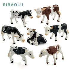 Simulation Farm Cow Animal Model Figure Kids Educational Toy Home Decor #5