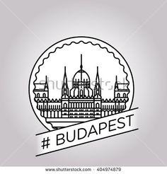 vector line budapest badge