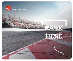 Sauber Team - Sauber Team Mousepad Park here - Must-Haves - Webshop Mousepad, F1, Must Haves, Park, Parks