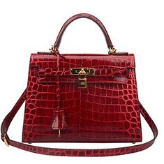 Ainifeel Women's Padlock Crocodile Embossed Patent Leather Shoulder Handbags- Patent leather, Very Stiff, but quality has no problem. Synthetic lining Ajustable shoulder strap or crossbody strap. Flap closure. Included lock and key Please note that patent leather is very stiff but quality has no problem, please kindly do not order this item if you would like to get a handbag with soft leather material. Size 28cm: 11'' long, 3.5'' wide, 7'' high, 3'' handle. #Bag, #Handbag