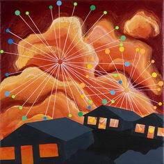 'Fireworks' (2006) by Eske Kath. Used as cover art for the 2007 Figurines record 'When the Deer Wore Blue'