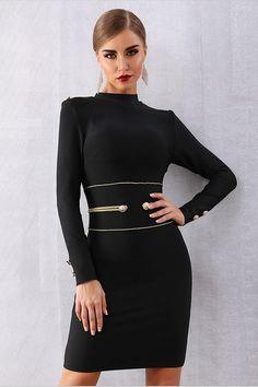 3cb3c8f4c7 Sizzling Sexy Long Sleeve Black Elegant Club Party Mini Dress