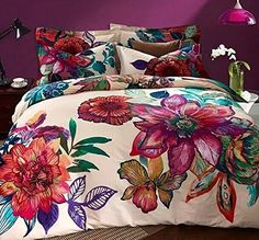 LeLv Bohemia Exotic Bedding Set Bohemian Duvet Covers Boho Bedding Set Queen Size Summer Style Sabanas Sheet 4 Pieces (3, Queen)