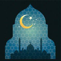 Islamic Ramandan design Eid Mubarak Card, Happy Eid Mubarak, Ramadan Crafts, Ramadan Decorations, Islamic Images, Islamic Art, Motif Oriental, Islamic Posters, Anime Muslim