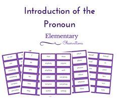 Introducing pronouns
