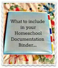 Homeschool documentation binder