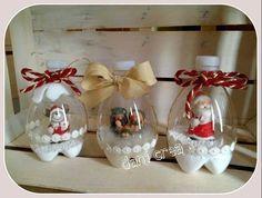 Que tal criar um globo de neve com garrafa pet para o Natal? Uma opção sustentável para deixar o clima de Natal ainda mais alegre! - Veja mais em: http://www.vilamulher.com.br/artesanato/passo-a-passo/como-fazer-globo-de-neve-com-garrafa-pet-689179.html?pinterest-destaque