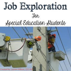 Special education students and life skill students need to be exposed to possible future employment earlier and earlier.  As special educators, it is our responsibility to help our students determine what job they may like in the future early, so that they have ample amount of time to become proficient at that job.