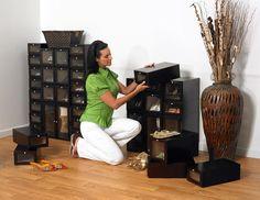 ShoeTrap Modular shoe storage in Mahogany
