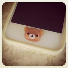 Rilakkuma iPhone Home Button by PetitBijouxBoutique on Etsy
