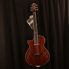 Crafter Left Handed SA-ARW Hybrid Electric/Acoustic Guitar | Adirondack Guitar