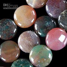14mm, 16mm Multicolor Agata Agate Coin grano flojo 15inch en línea con $ 6.7 / pedazo de tienda de Whjsxl | DHgate.com