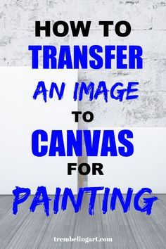 How to Transfer an Image to Canvas for Painting Not everyone can draw their subject onto the canvas with accuracy. Sometimes we need a little help. There are several methods to transfer a reference photo to a canvas depending upon… Continue reading → Acrylic Painting Lessons, Acrylic Painting For Beginners, Acrylic Painting Techniques, Beginner Painting, Painting Videos, Art Techniques, Watercolor Techniques, Transférer Des Photos, Watercolor Paintings