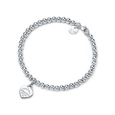 Tiffany Bead Bracelet, Tiffany Bracelets, Tiffany Jewelry, Sterling Silver Bead Bracelet, Tiffany E Co, Fashion Bracelets, Jewelry Bracelets, Couple Bracelets, Silver Bracelets