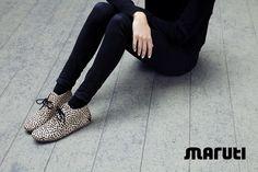 MARUTI Footwear - The Gimlet: cow hair women shoes, dots print www.marutifootwear.com