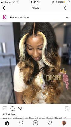 Follow @KeBay 4 More Pins Like This Goddess Hairstyles, Wig Hairstyles, Black Girls Hairstyles, Pretty Hairstyles, Love Hair, Gorgeous Hair, Natural Hair Styles, Curly Hair Styles, Hair Inspo